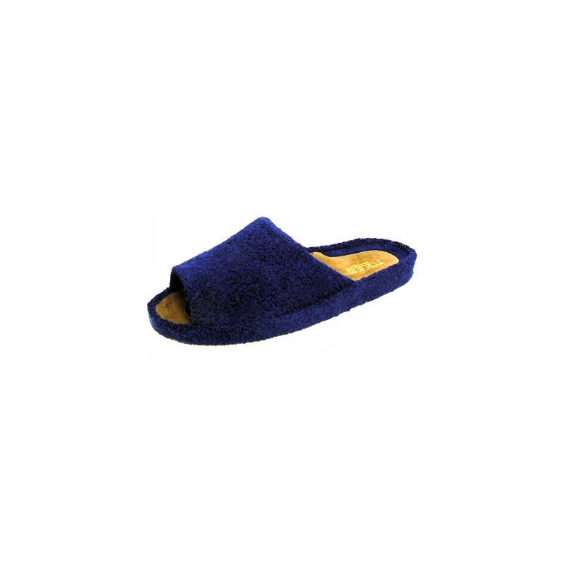 Ciabatta da uomo in spugna blu tentazione calzature for Mocassini da camera